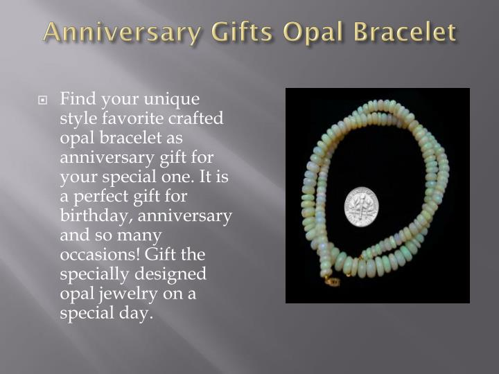 Anniversary Gifts Opal Bracelet
