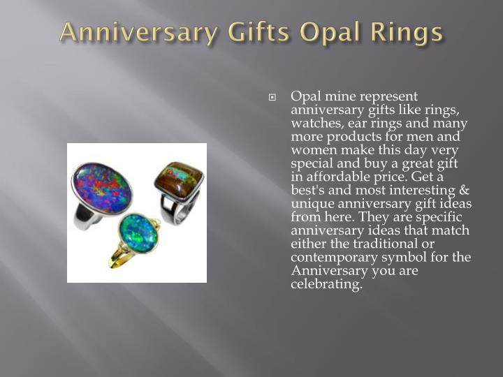 Anniversary Gifts Opal Rings