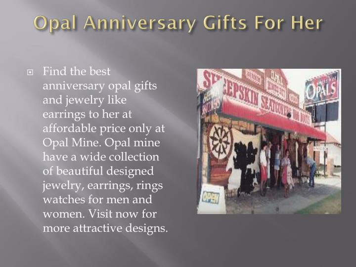 Opal anniversary gifts for her