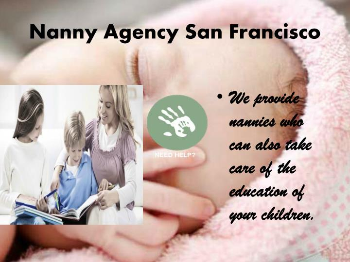 Nanny agency san francisco