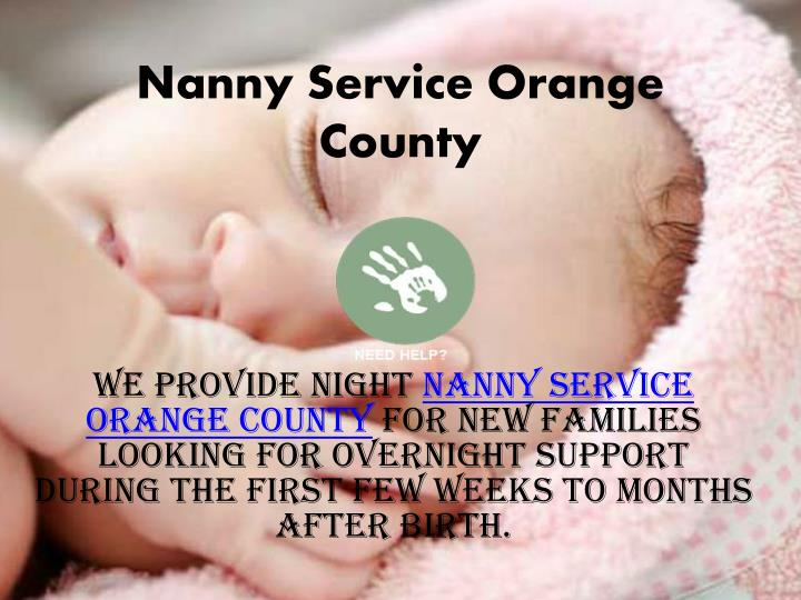 Nanny Service Orange County