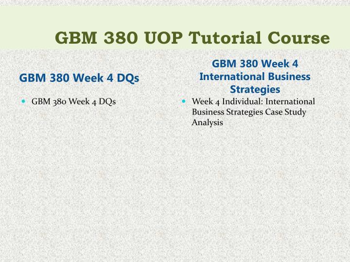 GBM 380 UOP