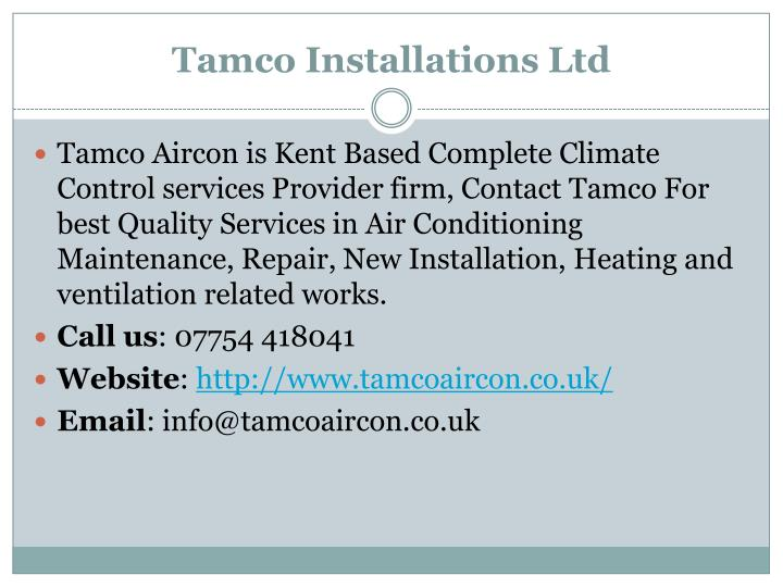 Tamco Installations Ltd