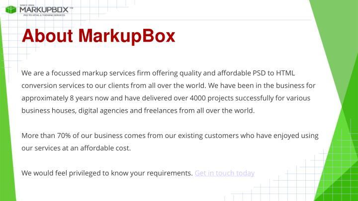 About MarkupBox