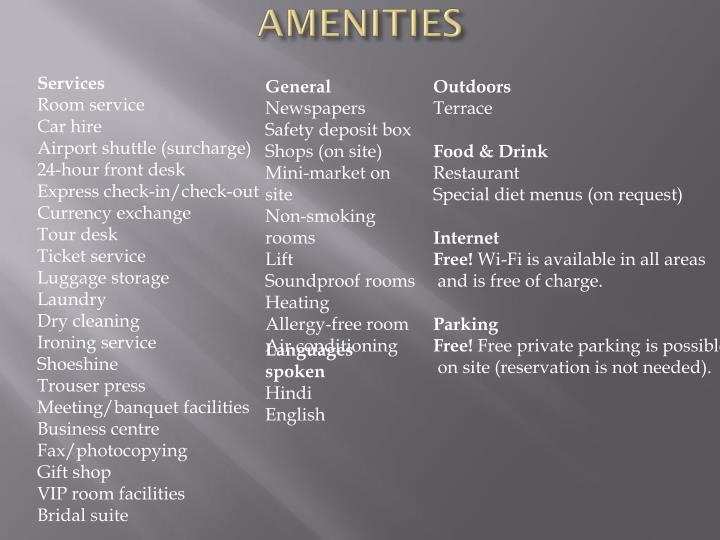 AMENITIES