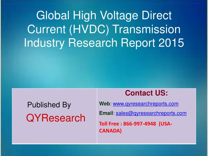 Global High Voltage Direct