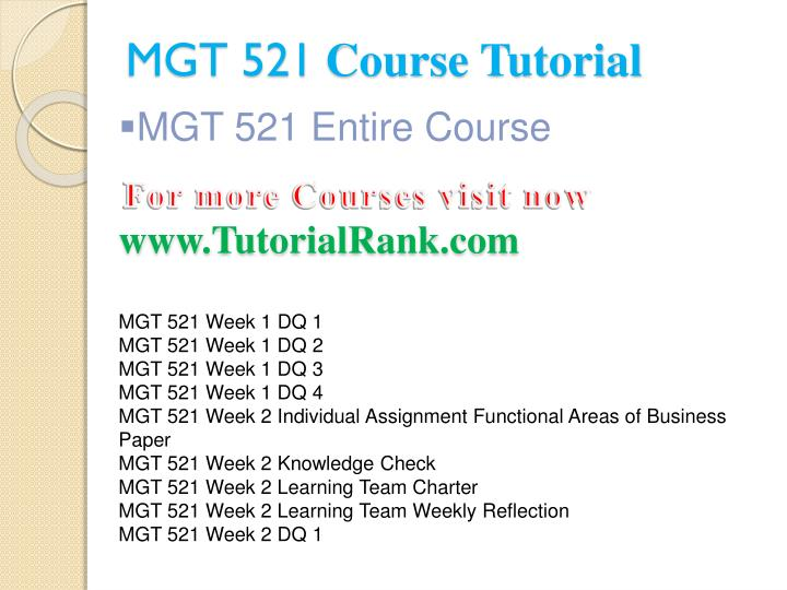 mgt 521 week 5 learning team Mgt 521 apply: using the project planner's toolkit week 5 resources: ch 16 of management and appendix: the project planner's toolkit of management and the excel template apply the concepts of the tools described in the project planner's toolkit.