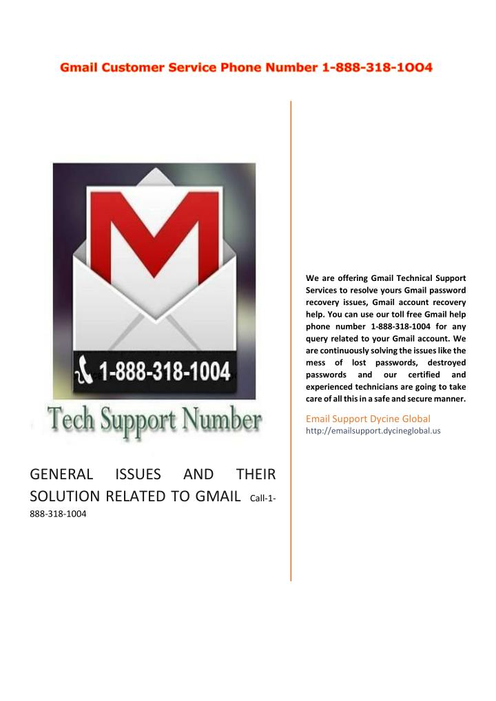 We are offering Gmail Technical Support