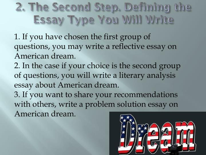 2. The Second Step. Defining the Essay Type You Will Write