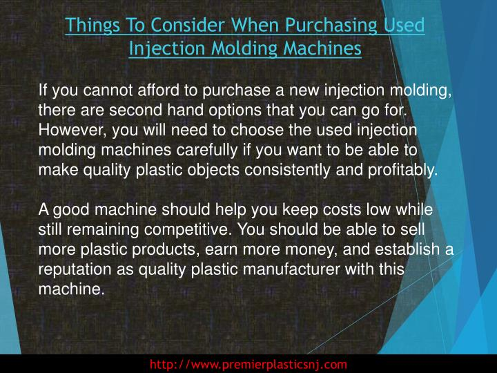 Things to consider when purchasing used injection molding machines2