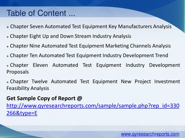 the global automated test equipment This report analyzes the worldwide markets for semiconductor automated test equipment (ate) in us$ by the following application areas: consumer electronics, telecom.