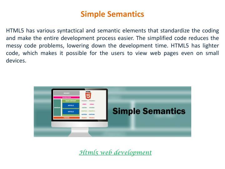 Simple Semantics