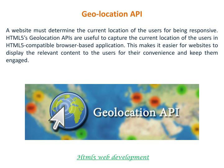 Geo-location API
