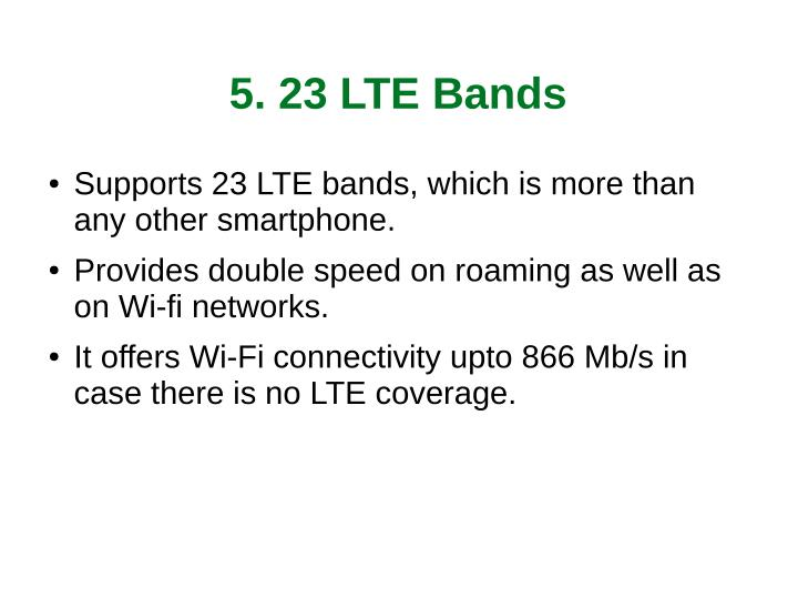 5. 23 LTE Bands