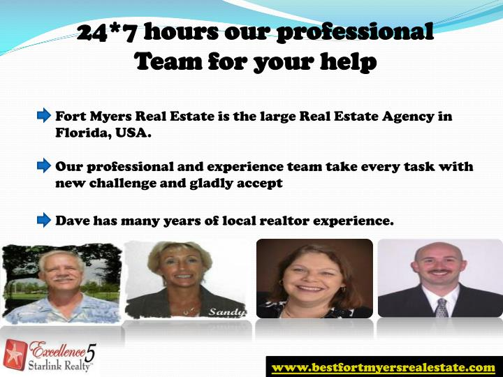 24*7 hours our professional Team for your help