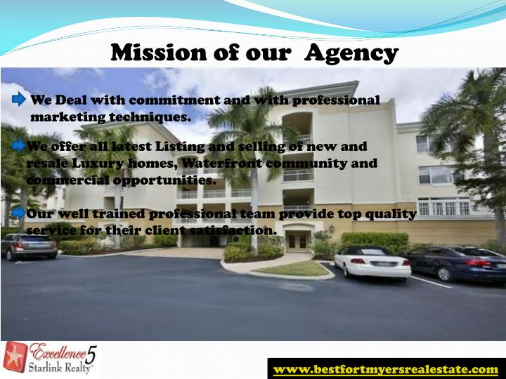 Mission of our  Agency