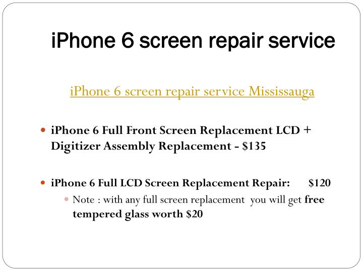 Iphone 6 screen repair service