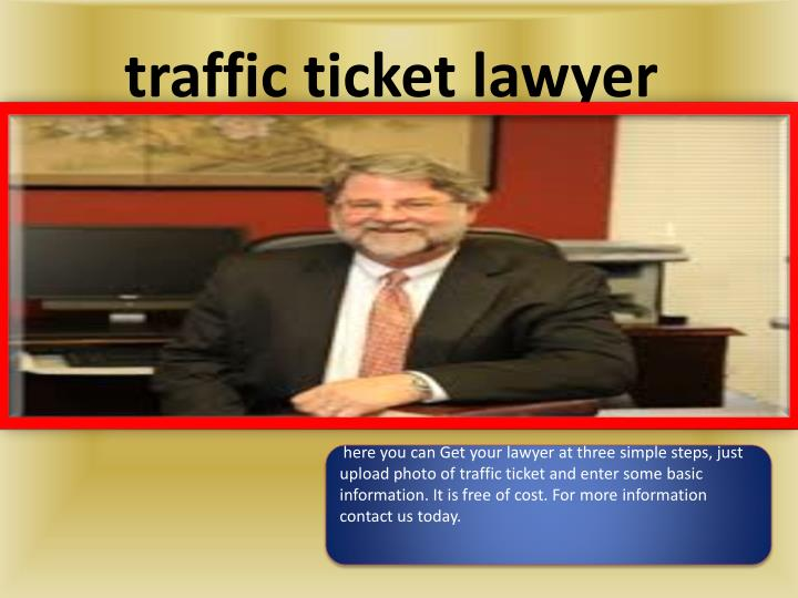 Traffic ticket lawyer