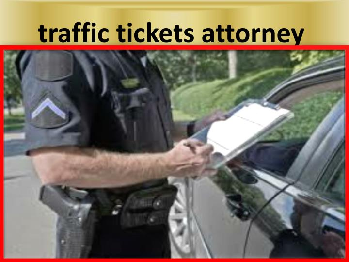 traffic tickets attorney
