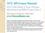 ntc 409 course tutorial12