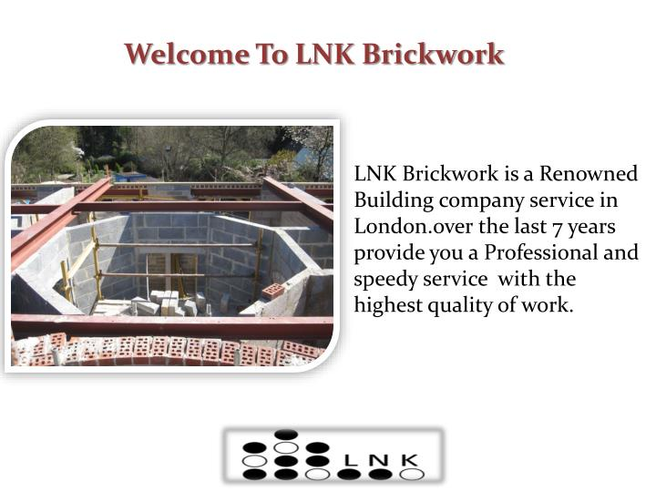 Welcome To LNK Brickwork