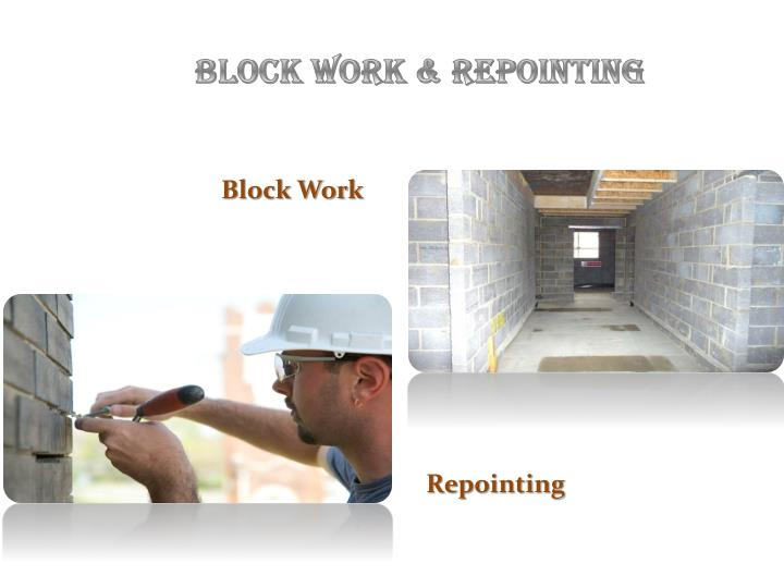 Block Work & Repointing