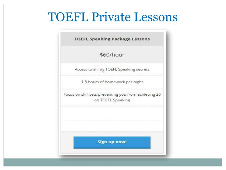 TOEFL Private Lessons