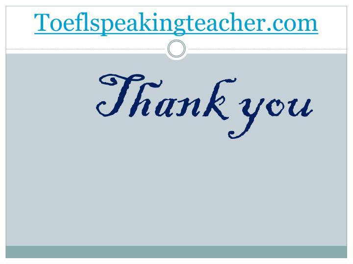 Toeflspeakingteacher.com