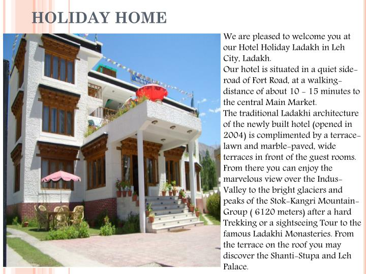 We are pleased to welcome you at our Hotel Holiday