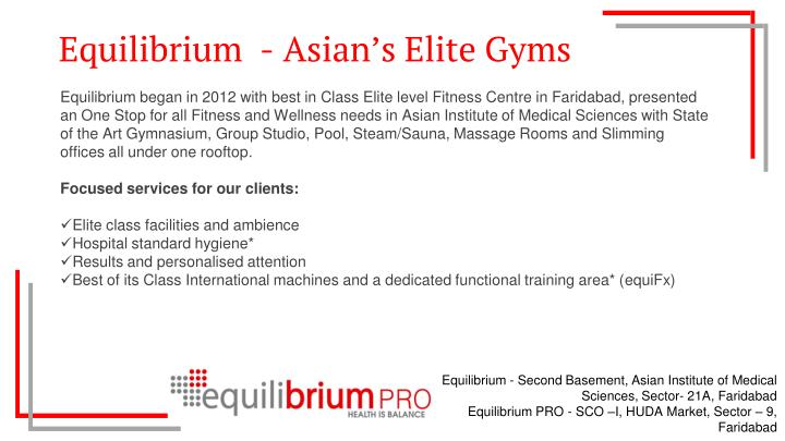 Equilibrium  -