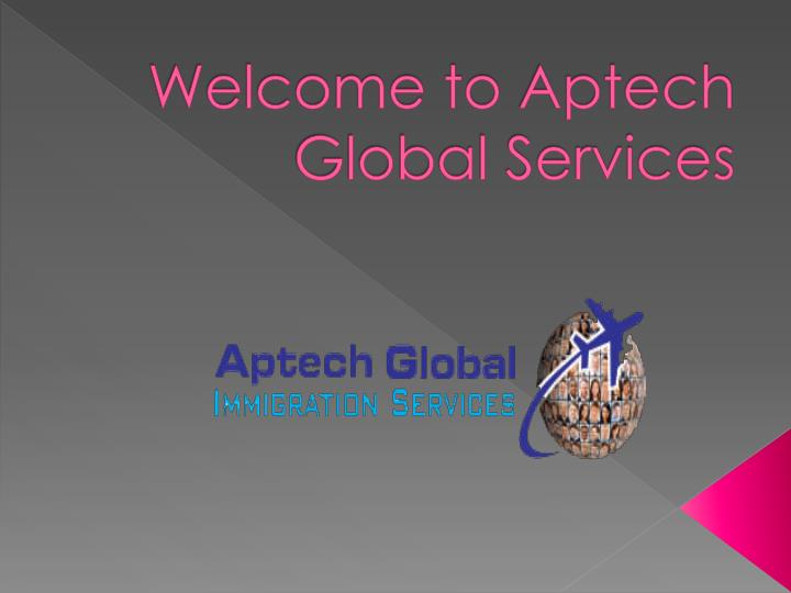 Welcome to aptech global services