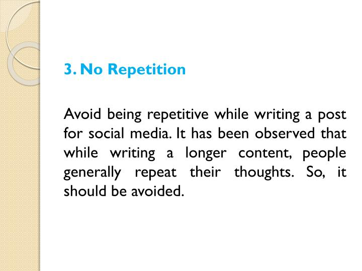 3. No Repetition