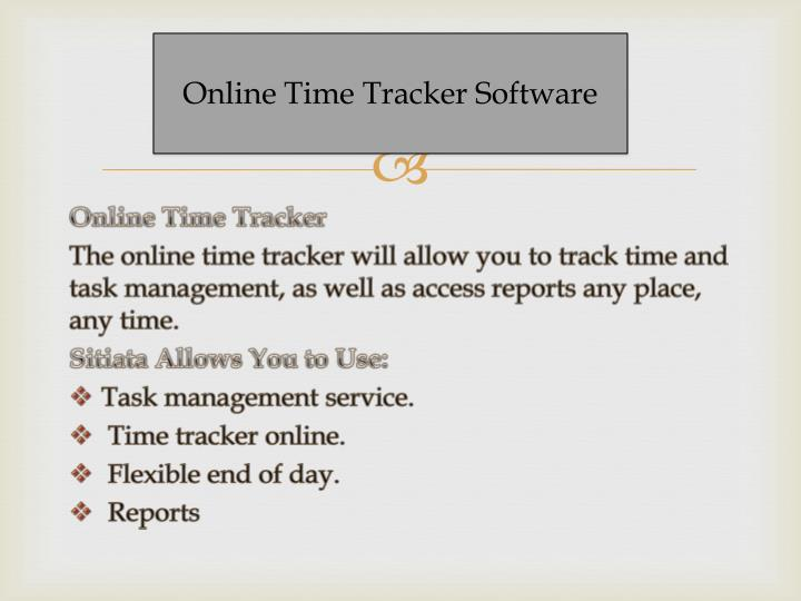 Online Time Tracker Software