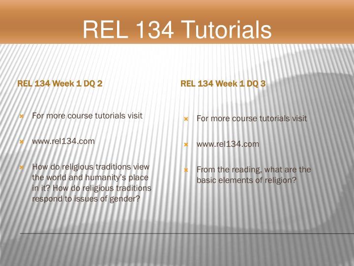 REL 134 Week 1 DQ 2