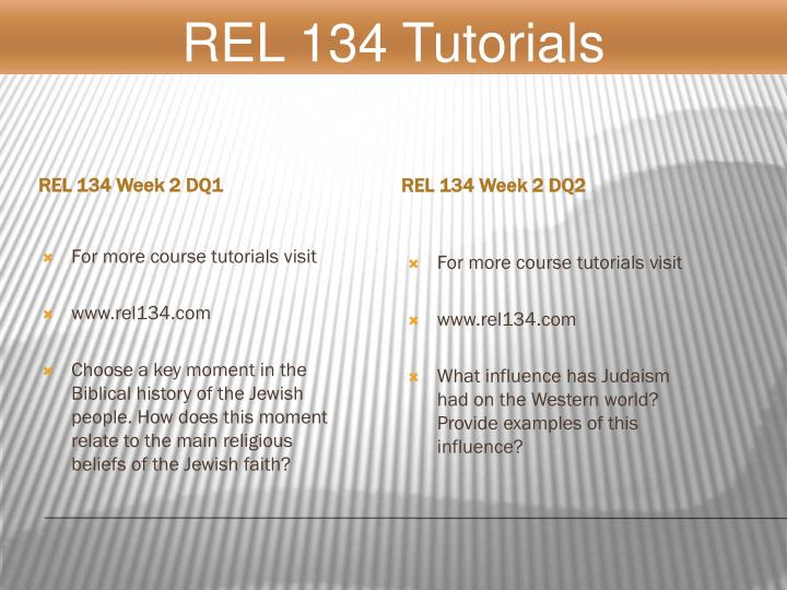 REL 134 Week 2 DQ1