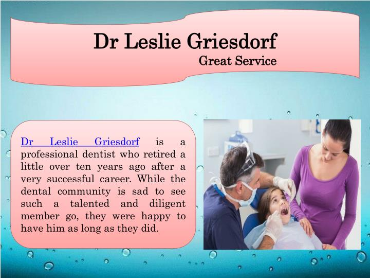 Dr Leslie Griesdorf