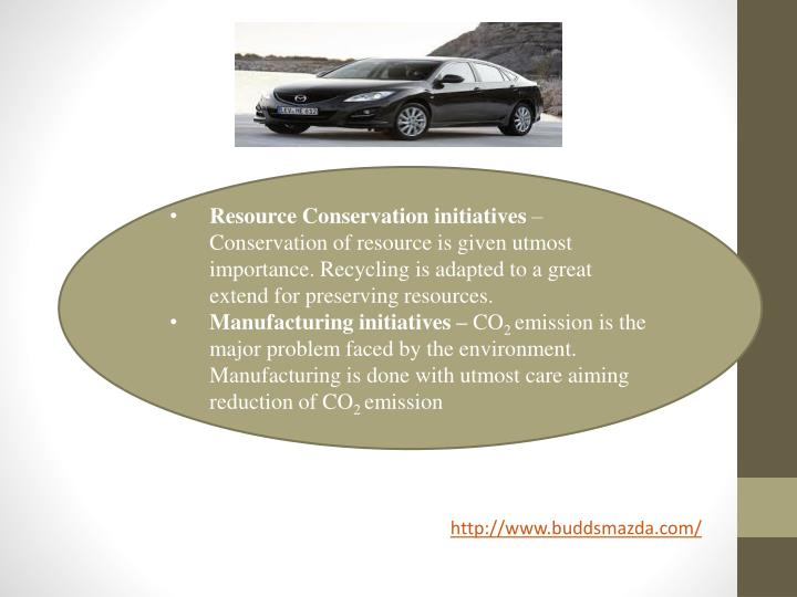 Resource Conservation initiatives