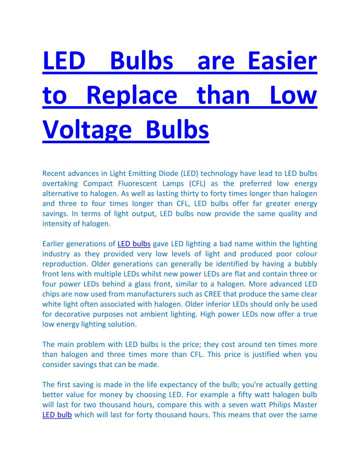 LED  Bulbs  are Easier