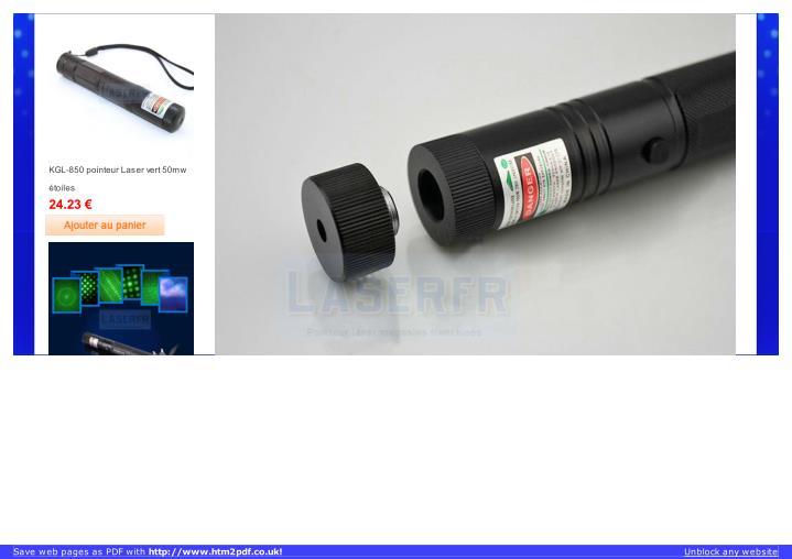 KGL-850 pointeur Laser vert 50mw