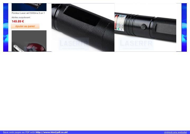 Pointeur Laser vert 5000mw 5 en 1
