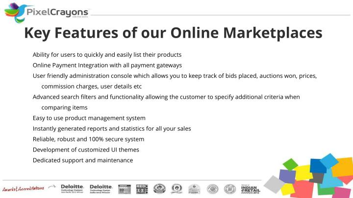 Key Features of our Online Marketplaces