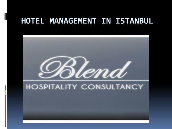 Hotel management in istanbul