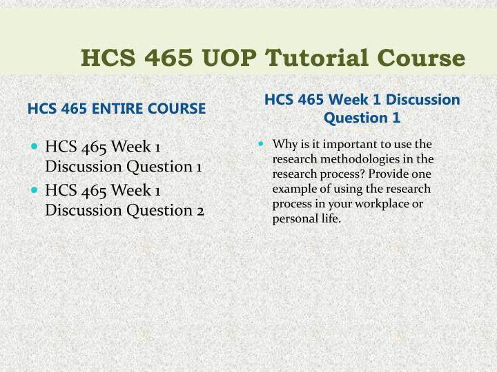 Hcs 465 uop tutorial course1