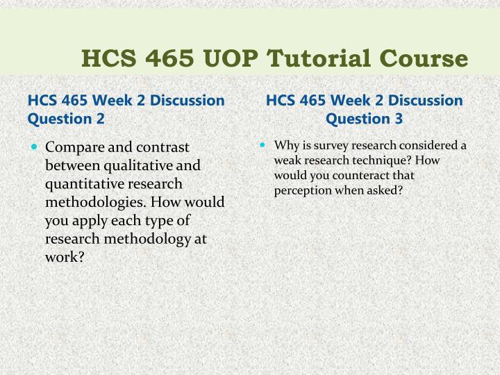 HCS 465 UOP Tutorial
