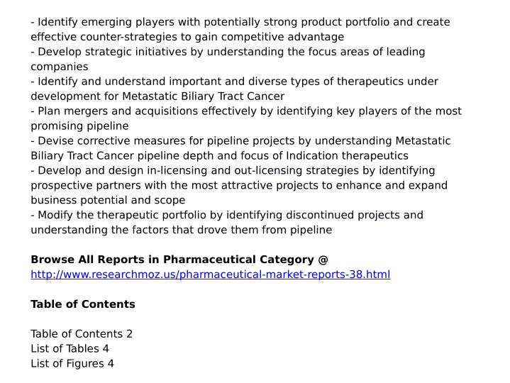 - Identify emerging players with potentially strong product portfolio and create
