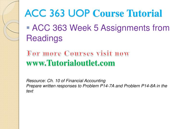 ACC 363 UOP