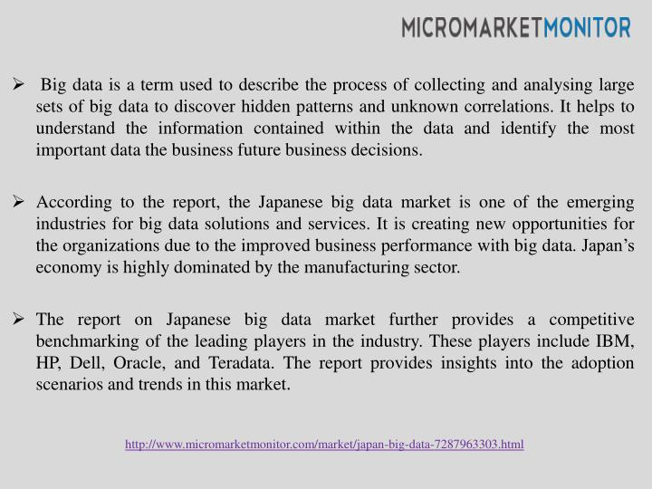 Big data is a term used to describe the process of collecting and
