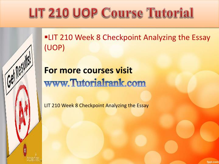 LIT 210 UOP
