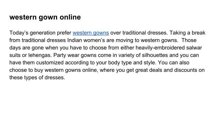 western gown online