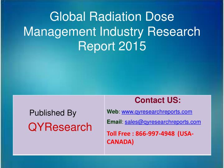Global Radiation Dose